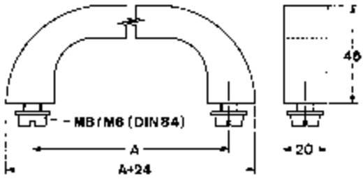 Mentor 3312.1401 Draaghandgreep Aluminium (geëloxeerd) (l x b x h) 164 x 20 x 45 mm 1 stuks