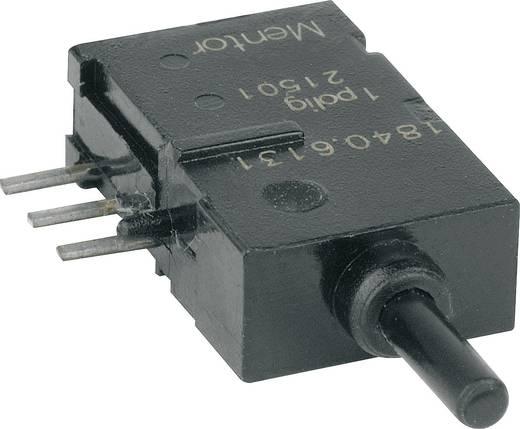 Mentor 1840.6131 Druktoets 60 V DC/AC 0.5 A 1x aan/(aan) schakelend 1 stuks