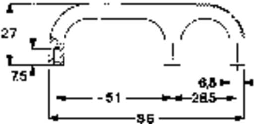 Mentor 3210.3003 Vingergreep Zwart (l x b x h) 86 x 9.5 x 27 mm 1 stuks