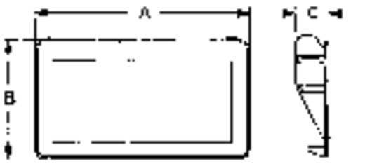 Mentor 3239.2003 Schaalhandgreep Zwart (l x b x h) 186 x 22 x 78.5 mm 1 stuks