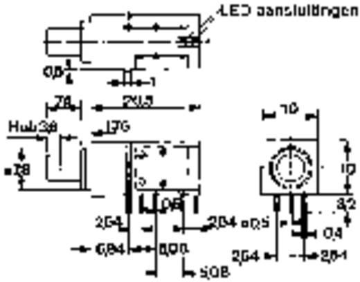 Mentor R-T Druktoets 60 V DC/AC 0.5 A 2x aan/(aan) schakelend 1 stuks