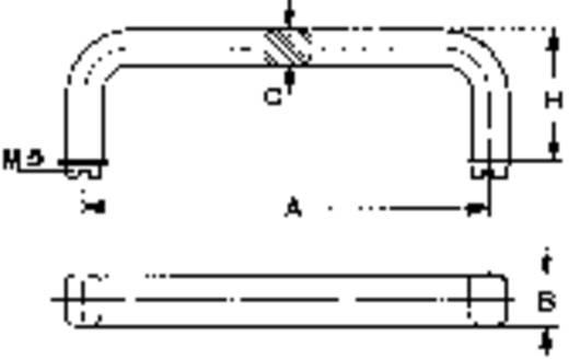 Mentor 277.2 Handgreep Aluminium (geëloxeerd) (l x b x h) 88 x 12 x 8 mm 1 stuks