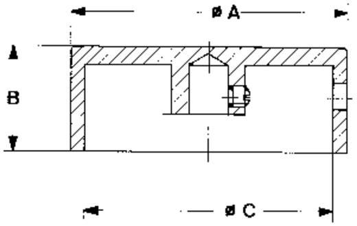 Mentor 523.611 Draaiknop Aluminium (Ø x h) 30 mm x 15 mm 1 stuks