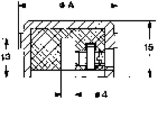 Mentor 5617.6614 Draaiknop Aluminium (Ø x h) 24 mm x 15 mm 1 stuks