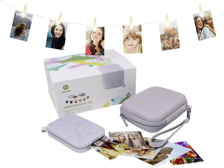 HP Sprocket 200 Limited Edition Gift Box Lunar Pearl Fotoprinter Printresolutie: 313 x 400 dpi Papie
