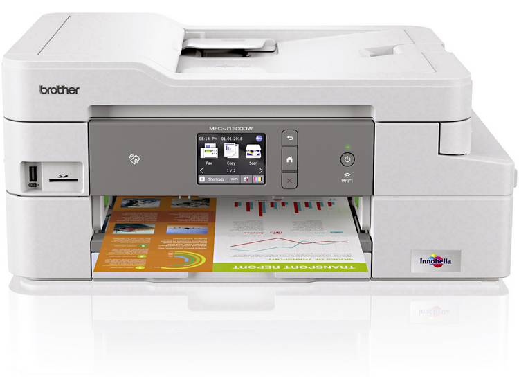 Brother MFC J1300DW Multifunctionele inkjetprinter Printen Scannen Kopiëren F