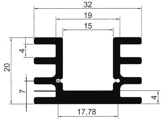 Strengkoellichaam 12.5 K/W (l x b x h) 25 x 32 x 20 mm TO-220 ASSMANN WSW V5229W