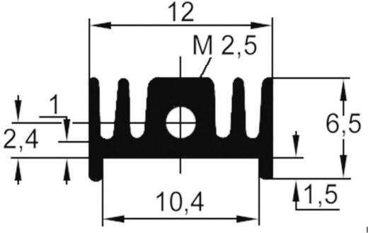 Strengkoellichaam 40 K/W (l x b x h) 25 x 12 x 6.5 mm