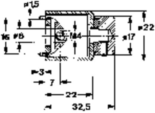 Mentor KNOPFAUTOMAT Draaiknop Zwart (Ø x h) 22 mm x 32.5 mm 1 stuks
