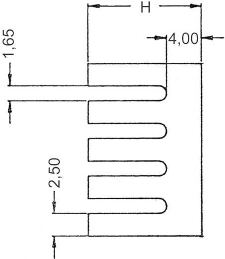 Koellichaam 21 K/W (l x b x h) 19.05 x 13.21 x 12.7 mm