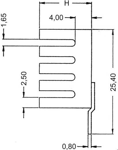 Koellichaam 24 K/W (l x b x h) 19.05 x 13.21 x 9.53 mm TO-220 ASSMANN WSW V7237B