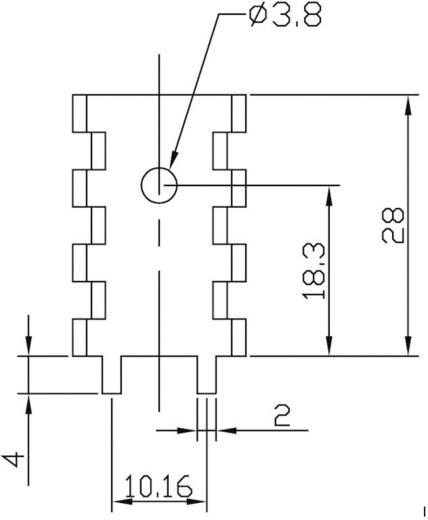 Koellichaam 16 K/W (l x b x h) 28 x 18.5 x 15 mm TO