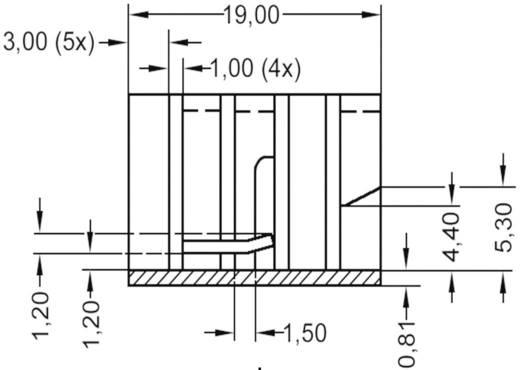 Koellichaam 21 K/W (l x b x h) 19 x 12.8 x 12.7 mm