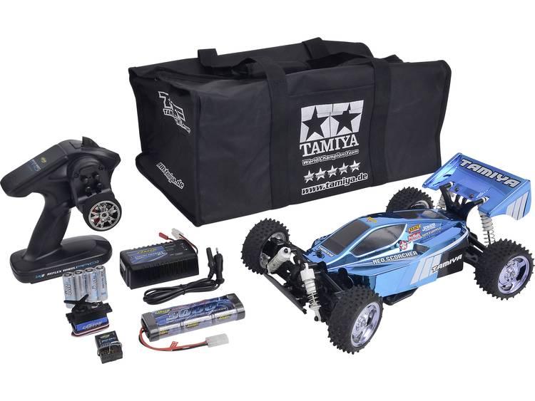 Tamiya NeoScorcher 1:10 Brushed RC auto Elektro Buggy 4WD Bouwpakket 2,4 GHz Incl. accu, oplader en