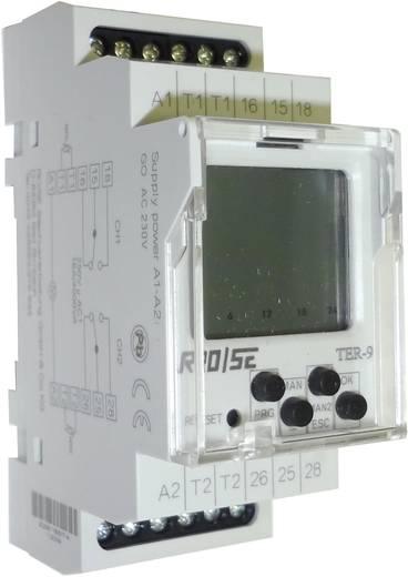 Digitale multifunctionele thermostaat 2 temperatuuringangen/2 schakeluitgangen Rose LMTER-9-40 - +110 °C(AC1