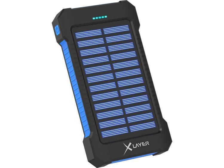 Solarlader Xlayer Powerbank Plus 215869 Laadstroom zonnecel 150 mA Capaciteit 8000 mAh