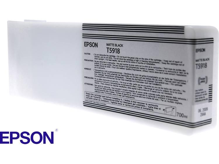 Epson Inkt T5918 Origineel Matzwart C13T591800