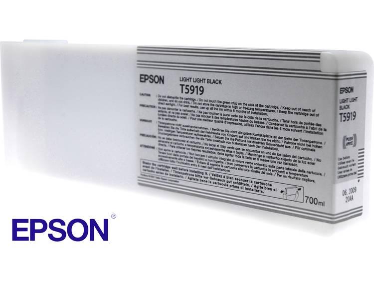 Epson Inkt T5919 Origineel Light lichtzwart C13T591900