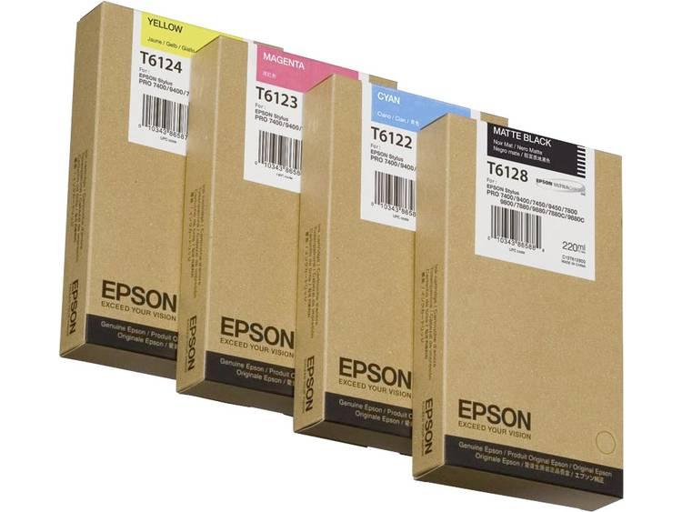 Epson Inkt T6121 Origineel Foto zwart C13T612100