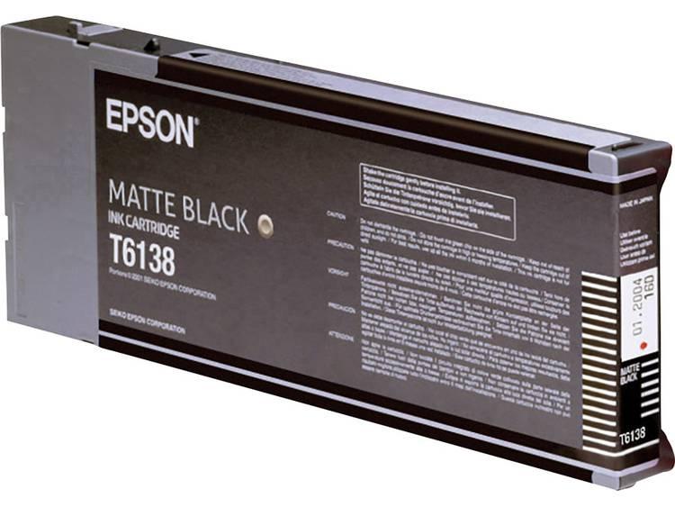 Epson Inkt T6138 Origineel Matzwart C13T613800
