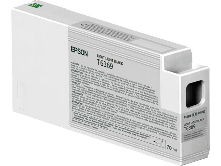 Epson Inkt T6369 Origineel Light lichtzwart C13T636900