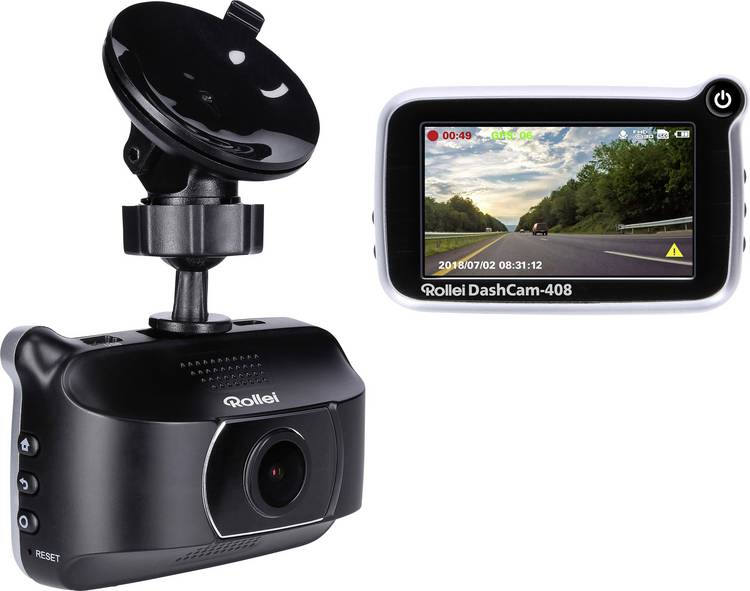 Rollei CarDVR-408 Dashcam met GPS Display. Microfoon
