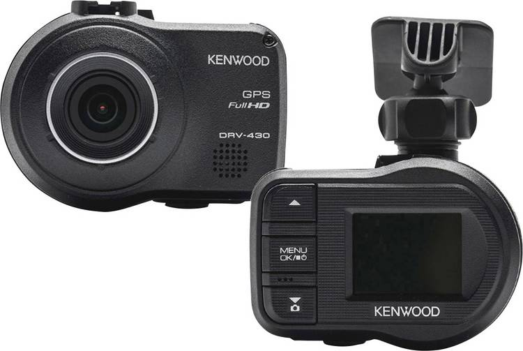 Kenwood DRV430 Dashcam met GPS Kijkhoek horizontaal (max.): 128  Display