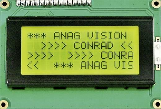 6 H LED LC-display Zwart Geel-groen (b x h x d) 98 x 60 x 15 mm