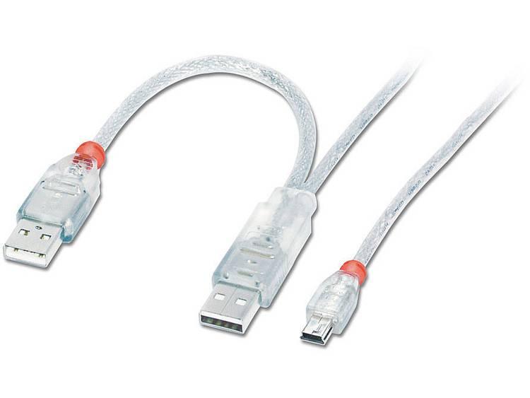 Lindy USB 2.0 2 x A (20cm)-Mini-B 1.0m (31784)