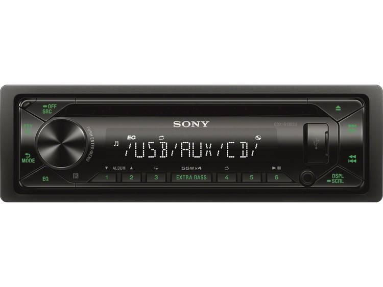 Sony CDX-G1302U CD-USB Autoradio Zwart-Groen