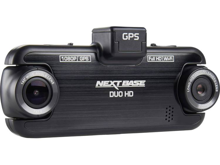 NextBase Duo HD Dashcam met GPS Kijkhoek horizontaal (max.) 140 ° Display
