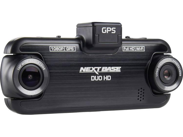 NextBase Duo HD Dashcam met GPS Kijkhoek horizontaal (max.) 140 ° Display