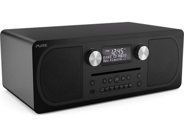 Pure Evoke C-D6 Tafelradio DAB+, FM AUX, Bluetooth, CD Zwart