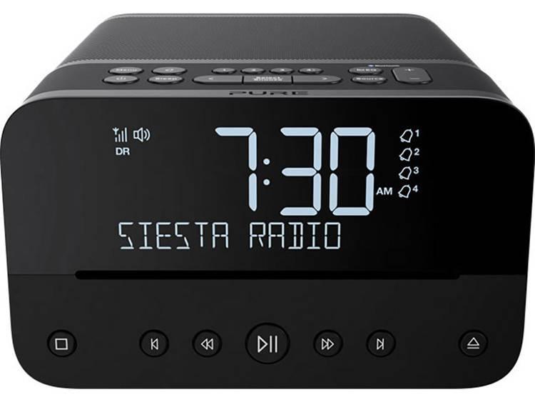 Pure Siesta Home FM Wekkerradio Bluetooth, CD, FM, USB Accu laadfunctie Antraciet