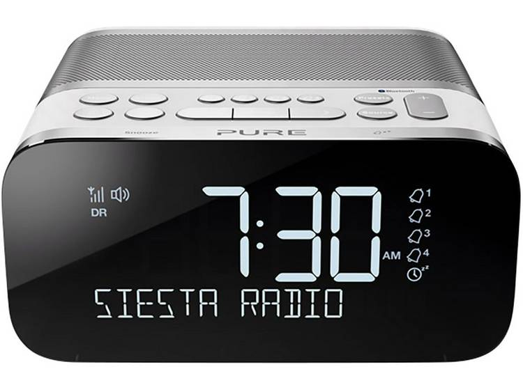 Pure Siesta S6 FM Wekkerradio Bluetooth, FM, USB Accu laadfunctie Wit