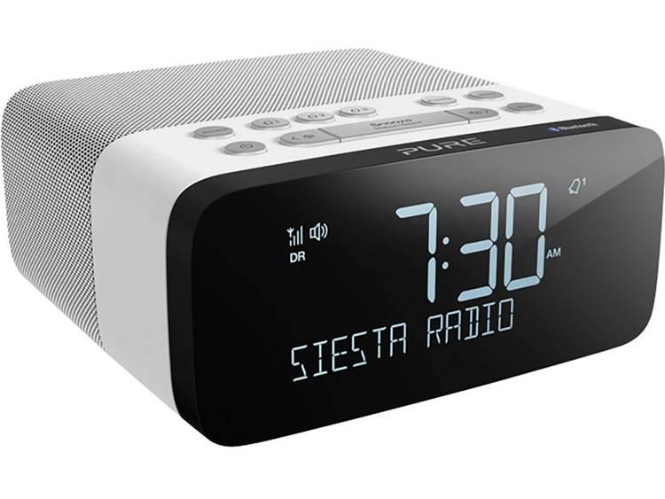Pure Siesta Rise S FM Wekkerradio Bluetooth, FM, USB Accu laadfunctie Wit