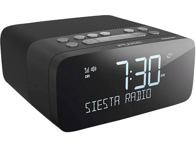 Pure Siesta Rise S FM Wekkerradio Bluetooth, FM, USB Accu laadfunctie Zwart