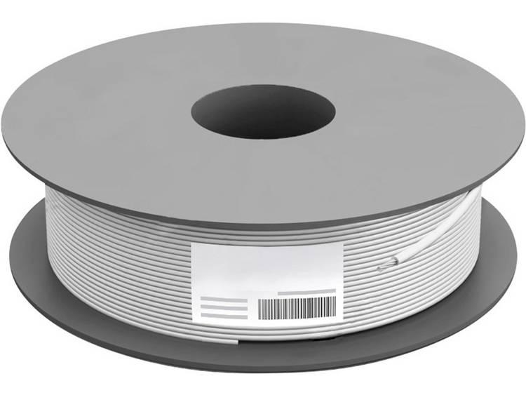 TRU COMPONENTS TC-7410960 Coaxkabel Buitendiameter: 6.80 mm 75 Ω 100 dB Wit 500 m