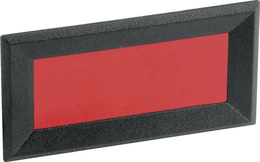 Mentor 2656.8422 Frontframe Zwart, Rood (b x h) 64 mm x 28 mm ABS