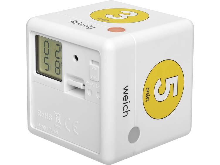 TFA Dostmann Cube Timer Ei Kookwekker Wit. Geel Digitaal