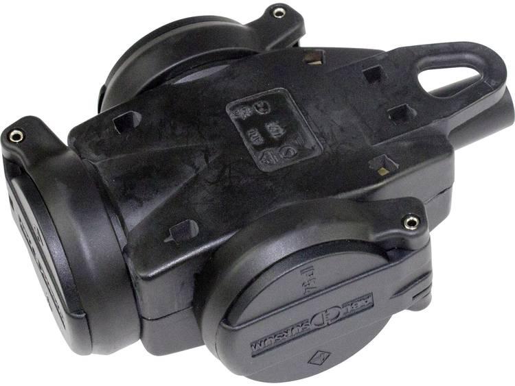 AS Schwabe 60455 Koppeling met randaarde Massief rubber 230 V Zwart IP44