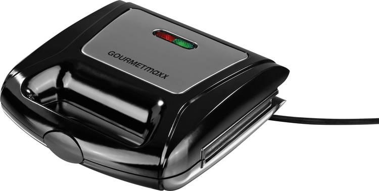 GourmetMaxx 06177 Tosti-apparaat Grillfunctie. Met verwisselbare platen Antraciet