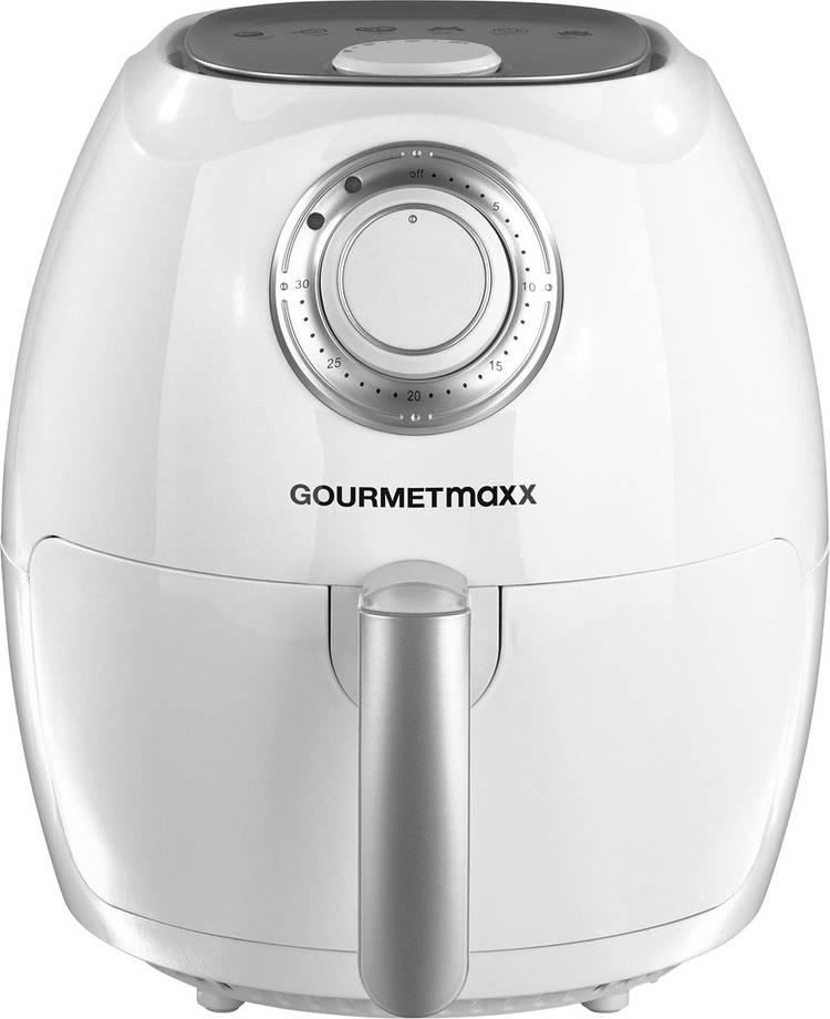 GourmetMaxx 00943 Hetelucht friteuse 1350 W Timerfunctie Wit