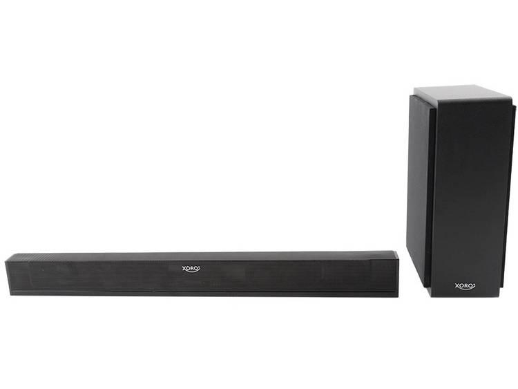Xoro HSB 75 Soundbar Zwart Bluetooth, Incl. draadloze subwoofer, USB