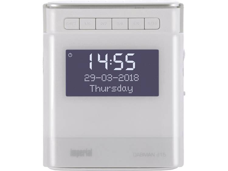 Imperial DABMAN d15 Wekkerradio DAB+, FM AUX, USB Accu laadfunctie Wit