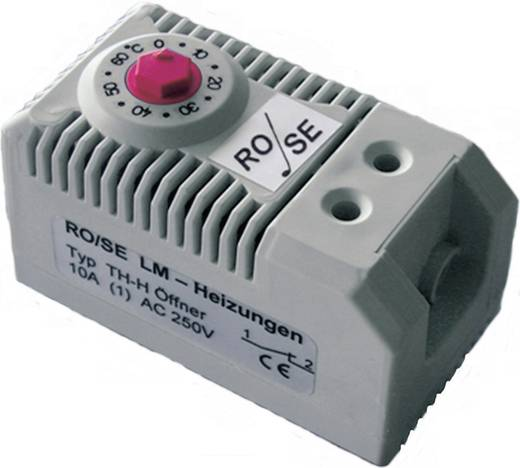 Rose LM TH-H Thermostaat voor schakelkastverwarming 1x NC (l x b x h) 60 x 32 x 43 mm