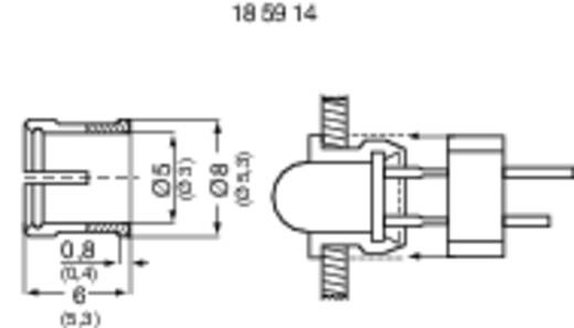 RTC-52-VE100 LED-fitting Kunststof Geschikt voor LED 5 mm SnapIn
