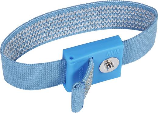 ESD-armband Donkerblauw Wolfgang Warmbier Drukknop 3 mm