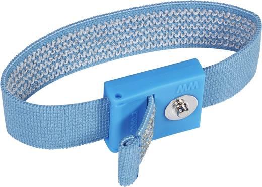ESD-armband Lichtblauw Wolfgang Warmbier Drukknop 3 mm