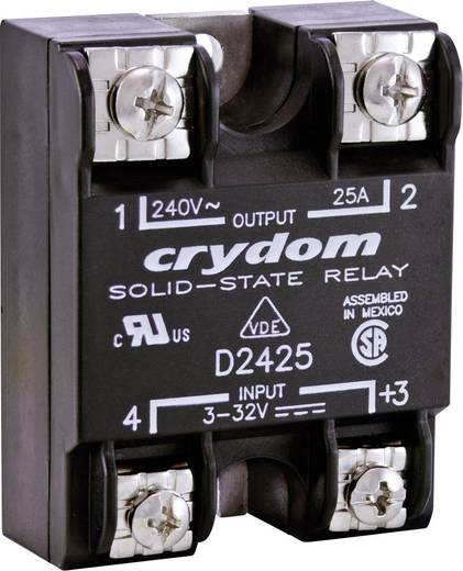 Crydom D2425-10 Halfgeleiderrelais 1 stuks Laadstroom (max.): 25 A Schakelspanning (max.): 280 V/AC Direct schakelend